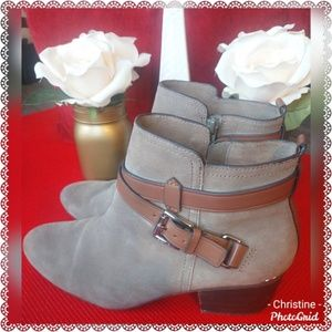 *Coach Suede Ankle Boots*